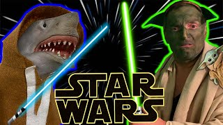 SHARK PUPPET IN STAR WARS!!!!!