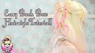 How To Do A Casual Back Bow Hairstyle - Violet LeBeaux