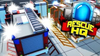 I Started my own Fire Station to Save The City from Emergency Fire Disasters in Rescue HQ