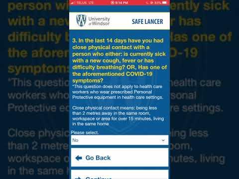 Safe Lancer App Self Assessment Tool