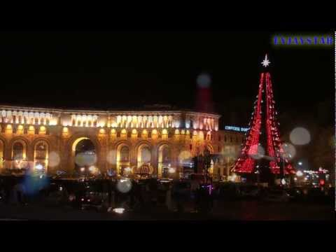 New Year 2012, Yerevan (Republic Square And Christmas Tree At Night)