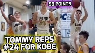 Tommy Murr Changes His Jersey To #24 & Scores 59 POINTS! Dedicates Game To Kobe Bryant 💛💜
