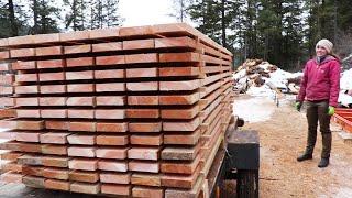 HONKIN' STACK OF WOOD! (Making Lumber on Sawmill)