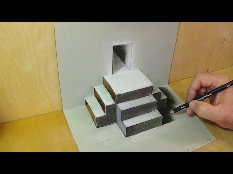 Mixed Reality Illusion - Pop-up Papercraft & Drawing Stairs - Trick Art for Kids and Adults