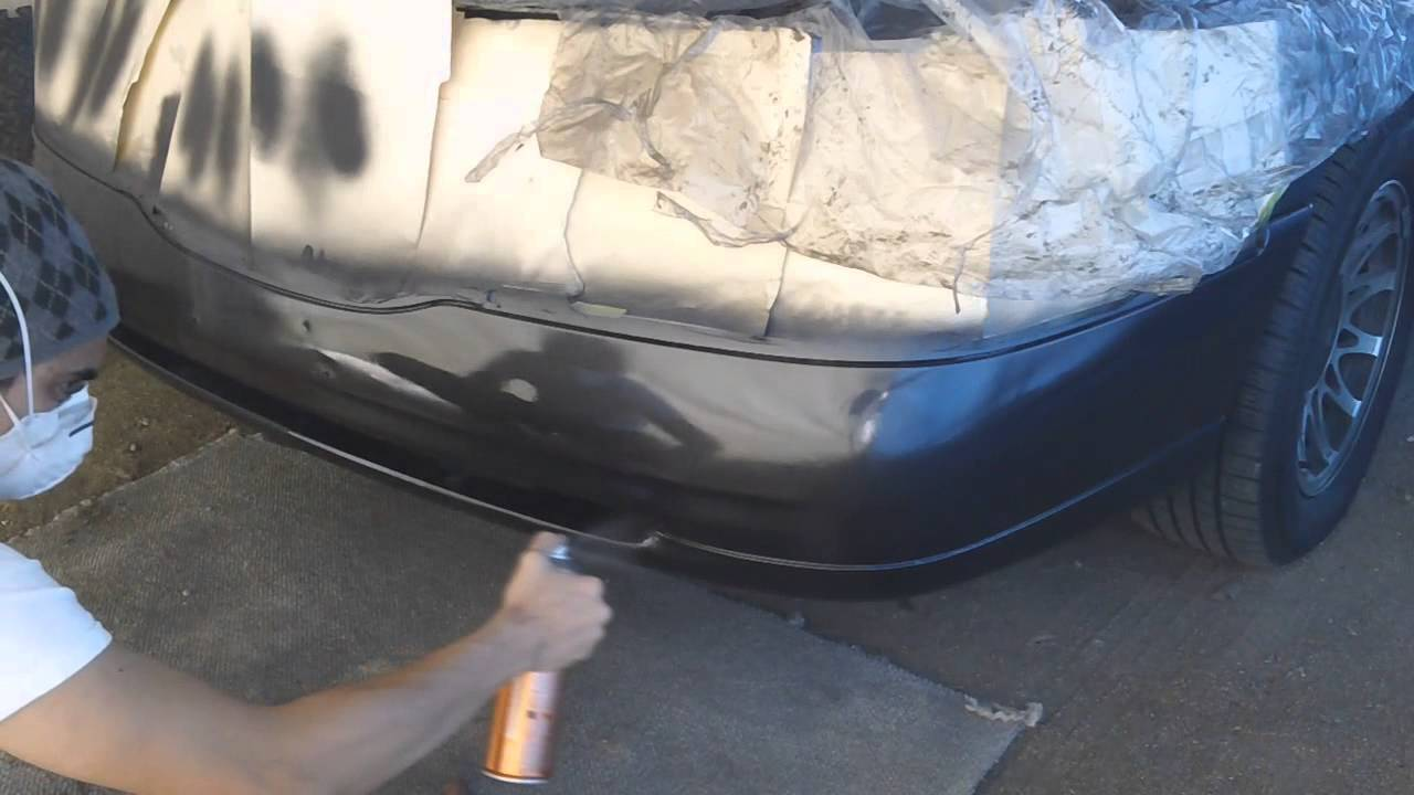 Painting A Car Part Using Spray Cans Part 2 Clear Coat Youtube
