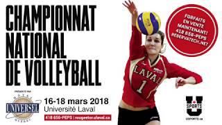 Championnat national de volleyball féminin U SPORTS 2018 présenté par l'Hôtel Universel Québec
