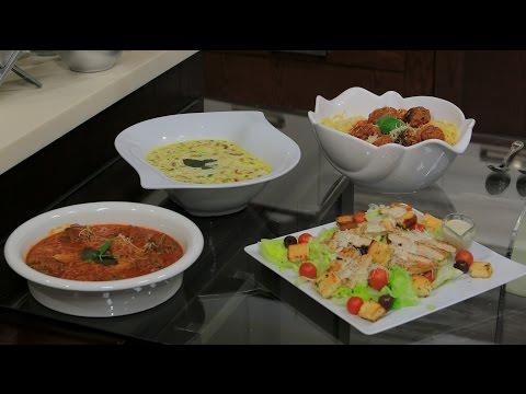 كفتة داوود باشا - شوربة مشروم بالكريمة و الدجاج - سلطة سيزر دجاج : اميرة في المطبخ حلقة كاملة