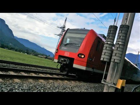 Ausserfern Railway - Regio DB train 425 625-1 flypast