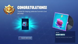 New B-DAY BEATS MUSIC in Fortnite! (Birthday Challenges Event FREE Reward)