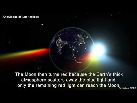 Simulation of total lunar eclipse on 4 April 2015
