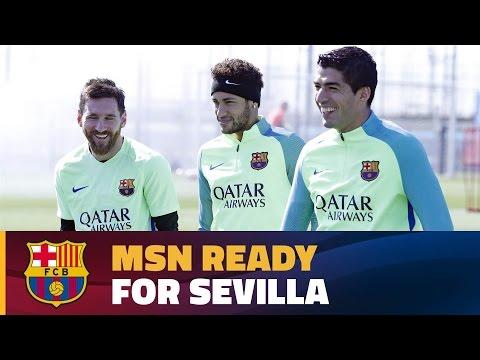 Last training session before Sevilla visit