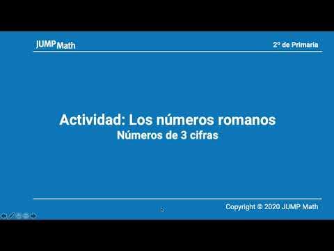 2. Actividad los números romanos