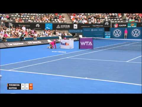 Tsvetana PIRONKOVA (BUL) vs Petra KVITOVA (CZE) SEMI FINAL HIGHLIGHTS Apia International Sydney 2014