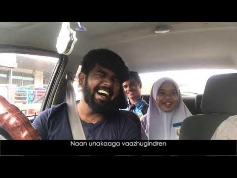 Syafa Wany learn to sing Amalina அமாலினா Tamil version Part2