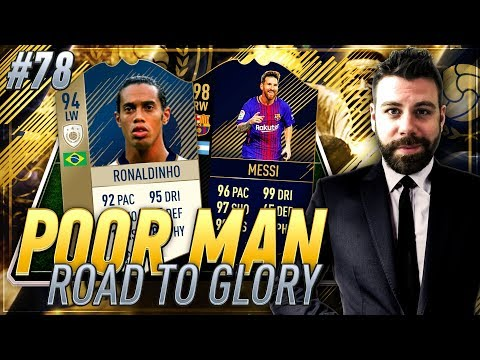 PRIME 94 RONALDINHO and TOTY MESSI SQUAD BUILDER!!!! - Poor Man RTG #78 - FIFA 18 Ultimate Team