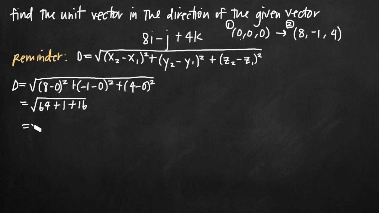 Unit Vector In The Direction Of The Given Vector Kristakingmath Youtube