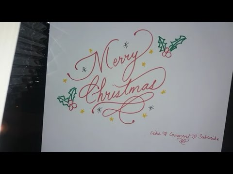 Simple Way to Write a fancy Merry Christmas