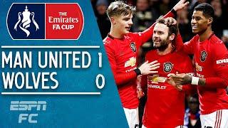 Man United 1-0 Wolves: Juan Mata saves the day! | FA Cup Highlights