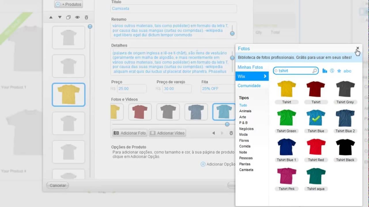 6e65cb72d Aprenda como criar um site Wix com Loja Online! - YouTube