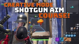 Creative Mode Shotgun aim & Building map! WITH CODE! - Fortnite Battle Royale!