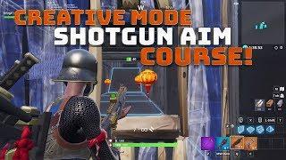 Objectif de fusil de chasse en mode créatif - Carte de construction! AVEC DU CODE ! - Fortnite Battle Royale!