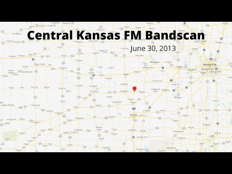 FM bandscan Pt. 1 (87.7-99.9), Lehigh, Kansas-July 30, 2013