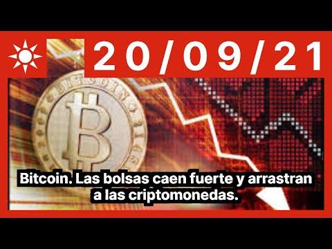 Bitcoin. Las bolsas caen fuerte y arrastran a las criptomonedas.