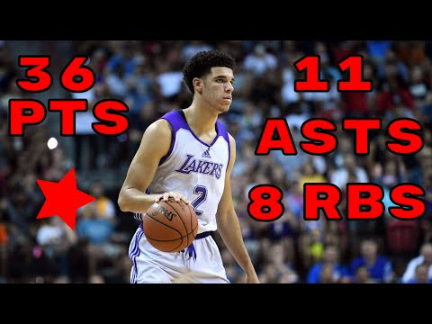 LONZO BALL 36 POINTS 11 ASSISTS!!! | FULL LONZO BALL SUMMER LEAGUE HIGHLIGHTS!!!