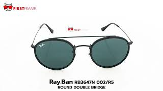 c4f140dadf RayBan RB3647N 002 R5 ROUND DOUBLE BRIDGE ...
