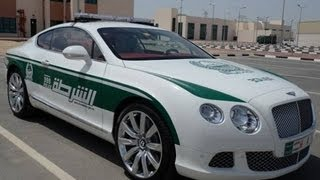 luxury cars of police in Dubai