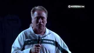 Michigan State Madness 2013: Tom Izzo shot out of a cannon!