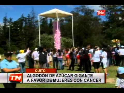 Algodón de azúcar gigante a favor de mujeres con cáncer