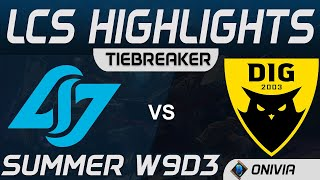 CLG vs DIG Tiebreaker Highlights LCS Summer 2020 W9D3 Counter Logic Gaming vs Dignitas by Onivia