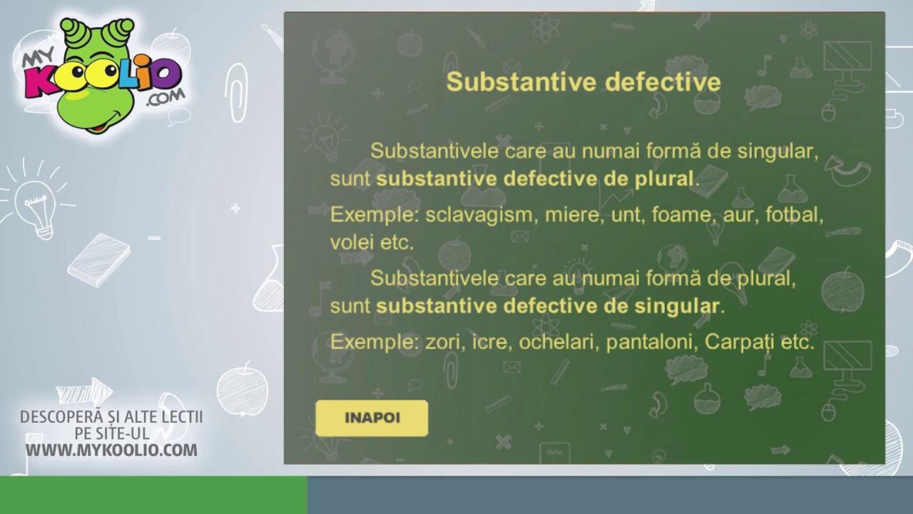 Lecție demo limba română, clasa a VI-a, Substantivul