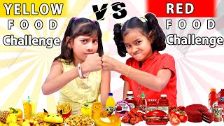 RED FOOD VS YELLOW FOOD CHALLENGE  YELLOW vs RED Food Challenge  Surprise Food Challenge by#foodiech