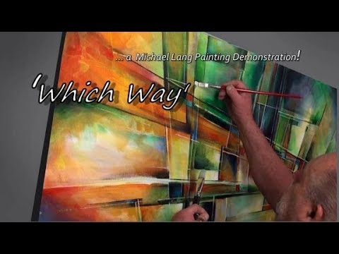 """Which Way' Painting Process, Simple Tools, Fun Geometric"