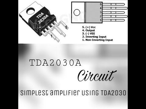 Simplest Amplifier Circuit Using TDA2030 IC  Detailed!!!