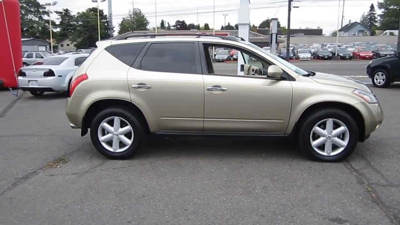 2005 nissan murano gold stock 11186 youtube. Black Bedroom Furniture Sets. Home Design Ideas