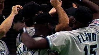 MIA@MON: Marlins clinch 1997 NL Wild Card