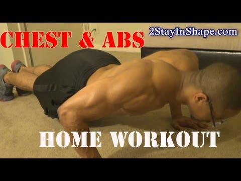 Home Core Six pack Abs & Chest Workout - How To Get Sixpack Abs