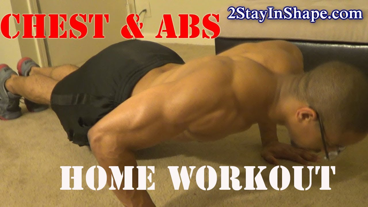 Home Core Six Pack Abs Chest Workout How To Get Sixpack Abs Youtube