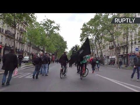 Протесты в Париже накануне президентских выборов — LIVE