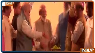 PM Modi hosts a dinner party for his alliance leaders at Ashoka Hotel, Delhi