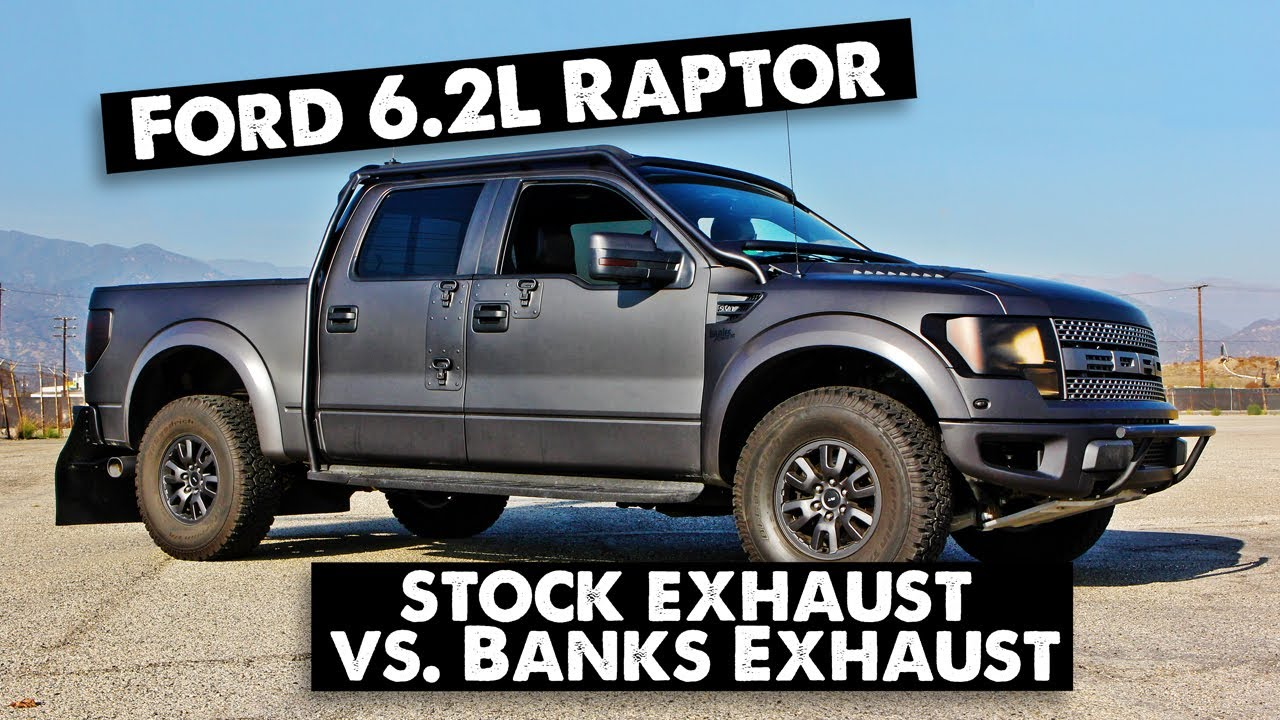 ford raptor 6 2l with banks monster exhaust youtube. Black Bedroom Furniture Sets. Home Design Ideas