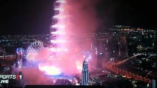 2013 Fireworks in Burj Khalifa Dubai New Year Eve FULL HD