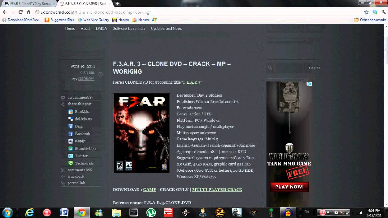 How to Download Fear 3 FREE PC