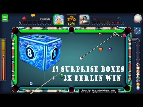 8 Ball Pool 2X Berlin Platz  +  15 Surprise Boxes
