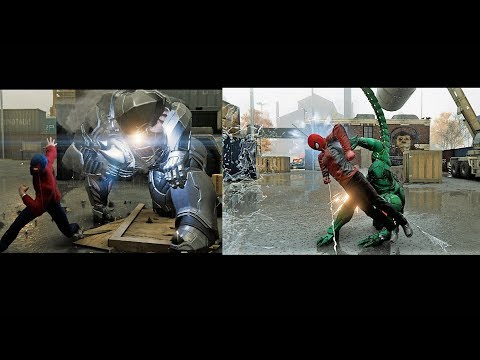 Spider-man vs Scorpion and Rhino w/Last Stand and Wrestler Suit
