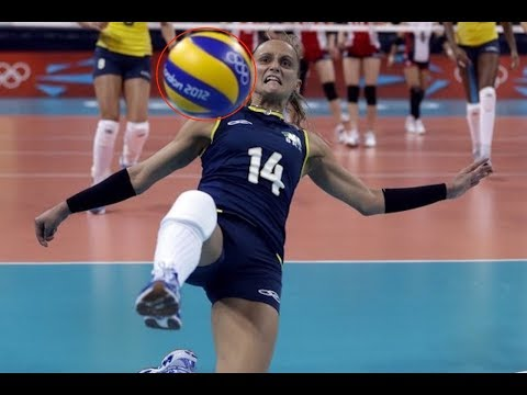 【バレーボール】【好プレー】足でバレー!?足を使ってのスーパープレイ集!kick!foot!【volleyball】