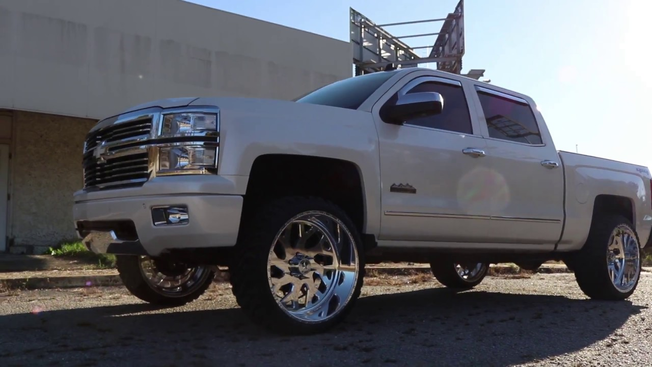 Aftermarket Rims For Chevy Silverado 1500 >> 2014 HIGH COUNTRY Z71 ON 24x12 AMERICAN FORCE - YouTube